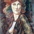Асадов Камиль «Женский портрет», 100x60, смешанная техника, 2000 г.