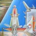 Асадов Камиль «Башня», 100x100, холст/масло, 2006 г.