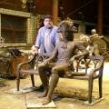 Антипин А.С. Работа в мастерской над композицией «Зодчий «Городницы» Джакомо Сакко», бронза.