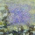 Ильина В.А. «Снег над городом», холст, масло, 80х80.