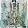 Лещинский А.А. «Махаон 1» 56x41 бумага, монотипия 1997 г.