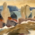 Рожко В.И. «Пейзаж», бумага, акварель.