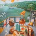 Соболев Ф.А. «Пейзаж с натюрмортом-1», холст, масло, 75х100см, 2006г.