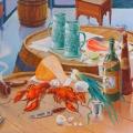 Соболев Ф.А. «Пейзаж с натюрмортом-3», холст, масло, 100х85см, 2006г.