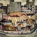 Щербаков В.Д. «Осенний пейзаж», бумага, акварель, 79х59 см, 1980 г.