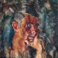 «Автопортрет», бумага/акварель, 47х50 см. 1969 г.