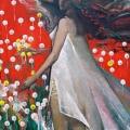 Янковский С.Н. «Девушка с одуванчиками», холст, масло, 130х100.